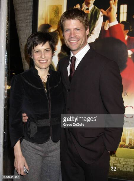 Joel Gretsch wife Melanie during The Emperor's Club Premiere Los Angeles at Academy Theatre in Beverly Hills California United States