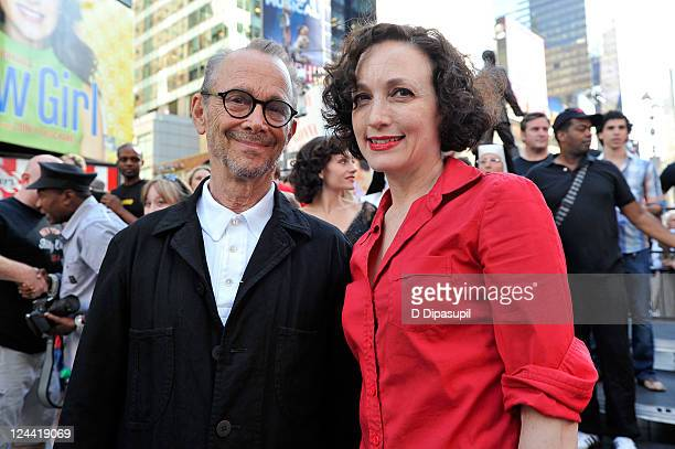 Joel Grey and Bebe Neuwirth attend the Broadway Unites 9/11 Day of Service and Remembrance ceremony at Times Square on September 9 2011 in New York...