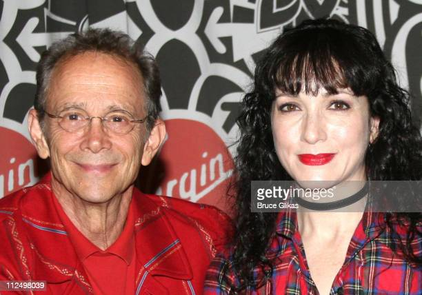 Joel Grey and Bebe Neuwirth during 'Chicago 10th Anniversary' CD Release Signing at Time Square Virgin Megastore in New York NY United States