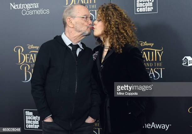 Joel Grey and Bernadette Peters attend the Beauty And The Beast New York Screening at Alice Tully Hall at Lincoln Center on March 13 2017 in New York...