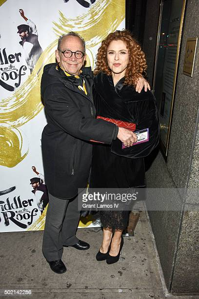 Joel Grey and Bernadette Peters attend the Fiddler On The Roof Broadway opening night at Broadway Theatre on December 20 2015 in New York City