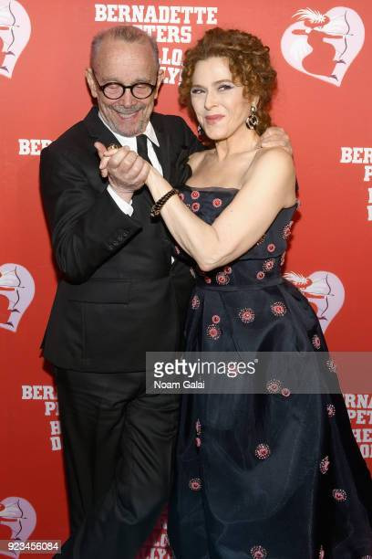 Joel Grey and Bernadette Peters attend the opening night of Hello Dolly on Broadway at Sardi's Restaurant on February 22 2018 in New York
