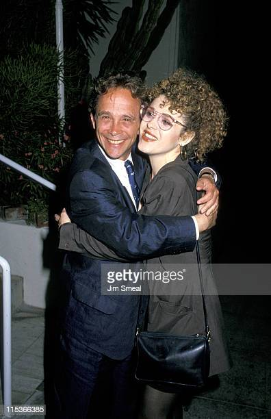 Joel Grey and Bernadette Peters during Joel Grey and Bernadette Peters Sighting at Spago's June 29 1988 at Spago's in Hollywood California United...