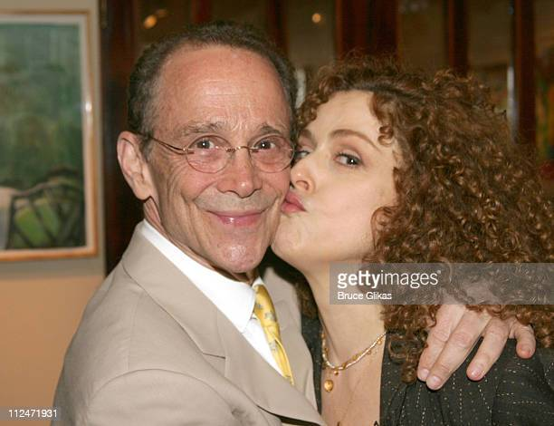 Joel Grey and Bernadette Peters during Joel Grey's 72nd Birthday Party at Michael's at Michael's in New York City New York United States