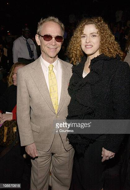 Joel Grey and Bernadette Peters during Olympus Fashion Week Fall 2005 Bill Blass Backstage and Front Row at The Tent in New York City New York United...