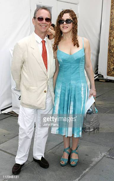 Joel Grey and Bernadette Peters during Olympus Fashion Week Spring 2006 Seen at Bryant Park Day 5 at Bryant Park in New York City New York United...