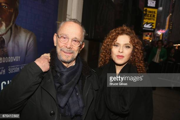 Joel Grey and Bernadette Peters poses at the opening night arrivals for The Manhattan Theatre Club's production of The Little Foxes on Broadway at...
