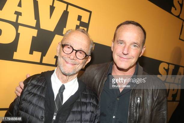 """Joel Grey and Clark Gregg pose at the opening night of the new play """"Slave Play"""" on Broadway at The John Golden Theatre on October 6, 2019 in New..."""