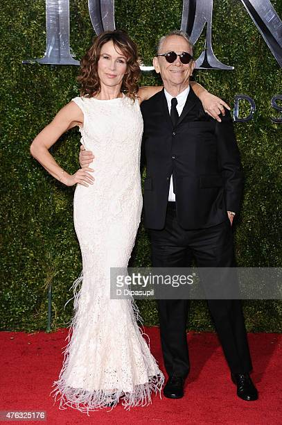 Joel Grey and daughter Jennifer Grey attend American Theatre Wing's 69th Annual Tony Awards at Radio City Music Hall on June 7 2015 in New York City