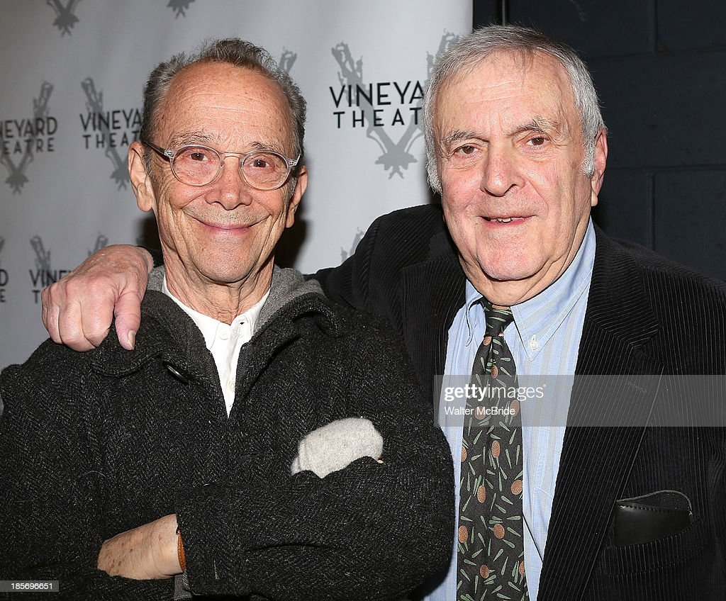 Joel Grey and John Kander attend the opening night of 'The Landing' at Vineyard Theatre on October 23, 2013 in New York City.