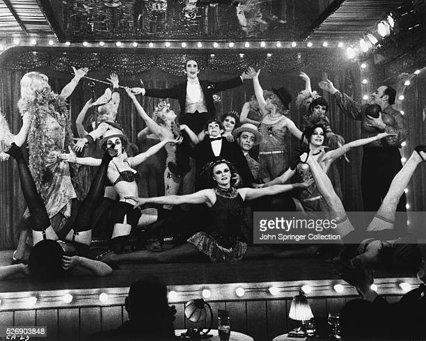 Joel Grey as the Master of Ceremonies in the 1972 film Cabaret Grey created the role on Broadway and won an Oscar for his performance in the film