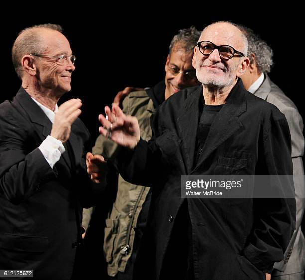 Joel Grey Joe Mantello Larry Kramer George C Wolfe attending the Broadway Opening Night Performance for 'The Normal Heart' in New York City