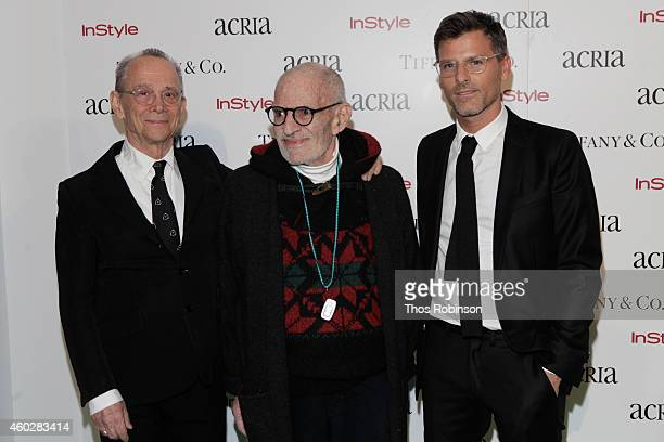 Joel Grey Larry Kramer and Benjamin Bashein attend the 19th Annual ACRIA Holiday Dinner at Skylight Modern on December 10 2014 in New York City
