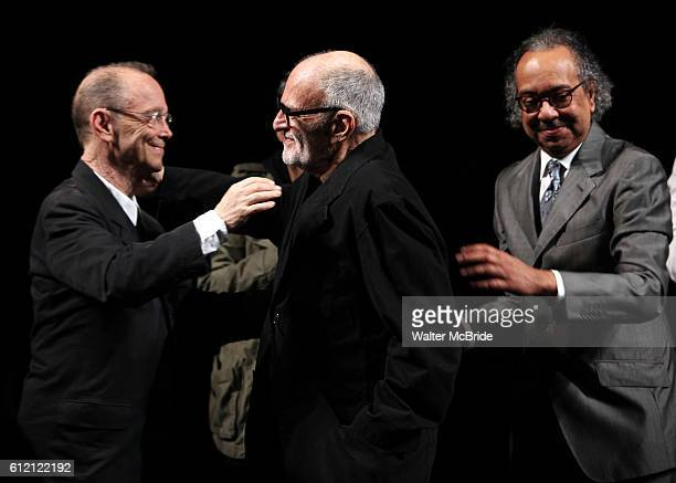 Joel Grey Larry Kramer George C Wolfe attending the Broadway Opening Night Performance for 'The Normal Heart' in New York City