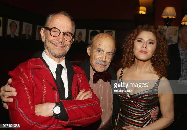 Joel Grey Original Producer David Black and Bernadette Peters pose at the 50th Anniversary Reunion of the cast of the legendary Broadway Musical...