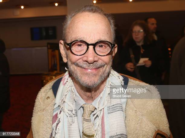 Joel Grey poses at the 'Thoroughly Modern Millie' 15th Anniversary Reunion Concert at The Minskoff Theater on February 12 2018 in New York City