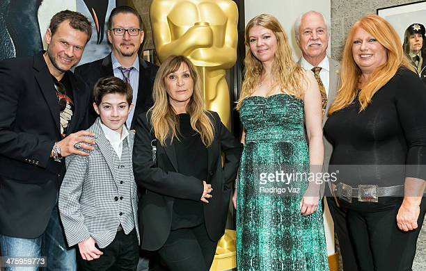Joel Harlow Mason Cook Stephen Prouty Gloria PasqaCasny Robin Mathews Leonard Engelman and Adruitha Lee attend the 86th Annual Academy Awards Oscar...