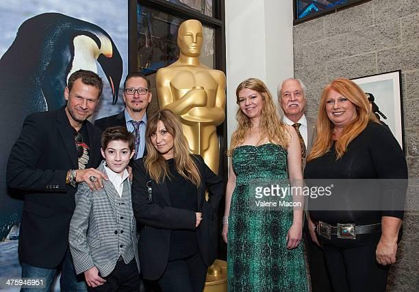 Joel Harlow Mason Cook Stephen Prouty Gloria PasquaCasny Robin Mathews Leonard Engelman and Adruitha Lee attend the 86th Annual Academy Awards Oscar...