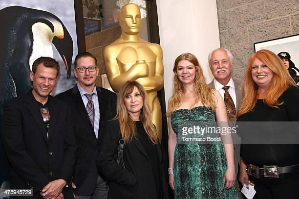 Joel Harlow Stephen Prouty Gloria Pasqua Casny Robin Mathews Academy Governor Leonard Engelman and Adruitha Lee attend the 86th Annual Academy Awards...
