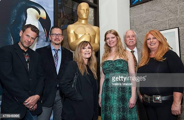 Joel Harlow Stephen Prouty Gloria PasquaCasny Robin Mathews Leonard Engelman and Adruitha Lee attend the 86th Annual Academy Awards Oscar Week...