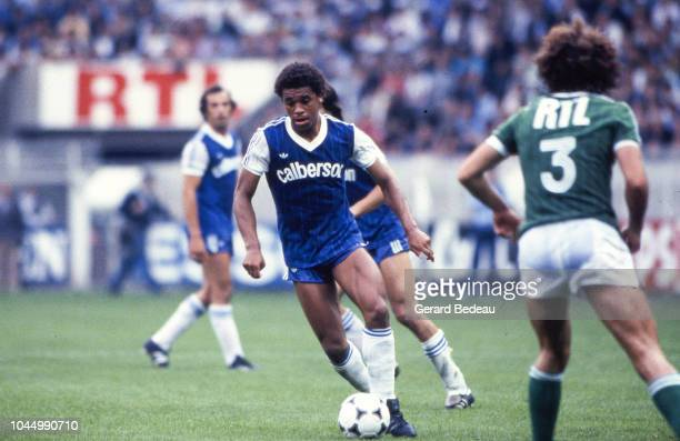 Joel Henry of Bastia during the French national cup final match between Bastia and St Etienne at Parc des Princes Paris France on June 13 1981