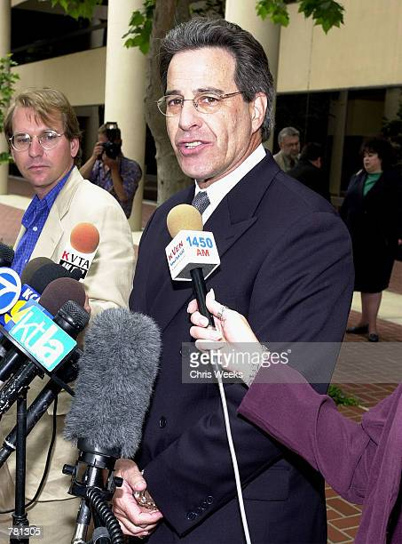 Joel Isaacson the attorney for Shawn Brown the exhusband of Erin Brockovich and defendant in the Erin Brockovich Extortion case answers reporter's...