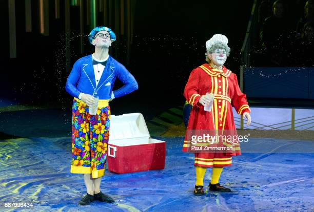 Joel Jeske and Barry 'Grandma' Lubin perform at the Big Apple Circus 40th Anniversary Opening Night at Damrosch Park Lincoln Center on October 29...