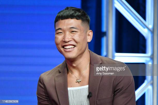 Joel Kim Booster of Sunnyside speaks during the NBC segment of the 2019 Summer TCA Press Tour at The Beverly Hilton Hotel on August 8 2019 in Beverly...