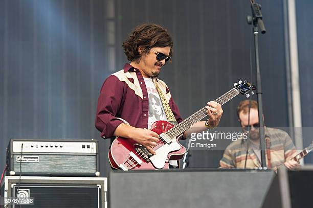 Joel King of The Wild Feathers performs on the Sunset Cliffs Stage during the 2016 KAABOO Del Mar at the Del Mar Fairgrounds on September 18 2016 in...