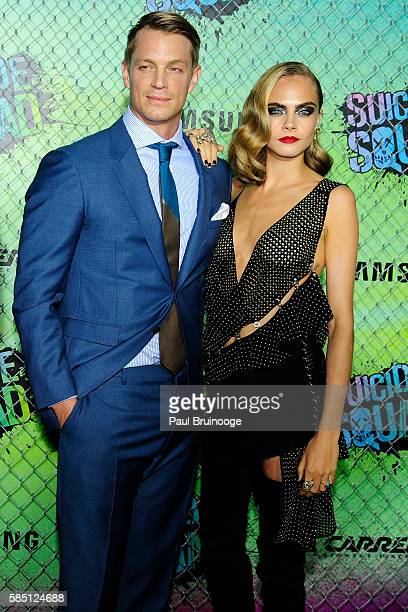 Joel Kinnaman and Cara Delevingne attends The World Premiere of Warner Bros Pictures and Atlas Entertainment's 'Suicide Squad' at The Beacon Theatreq...