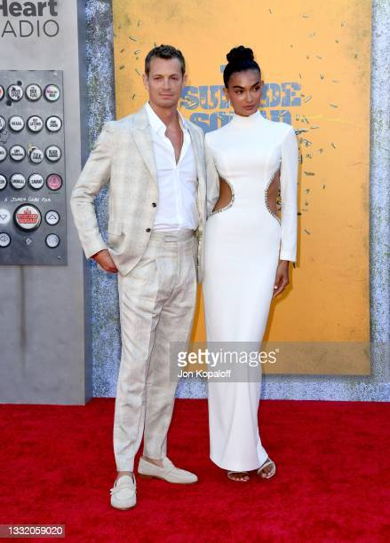 """Joel Kinnaman and Kelly Gale attend the Warner Bros. Premiere of """"The Suicide Squad"""" at Regency Village Theatre on August 02, 2021 in Los Angeles,..."""