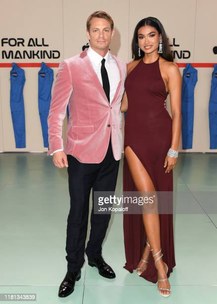 "Joel Kinnaman and Kelly Gale attend the World Premiere Of Apple TV+'s ""For All Mankind"" at Regency Village Theatre on October 15, 2019 in Westwood,..."