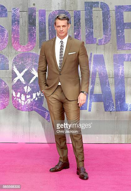 """Joel Kinnaman attends the European Premiere of """"Suicide Squad"""" at the Odeon Leicester Square on August 3, 2016 in London, England."""