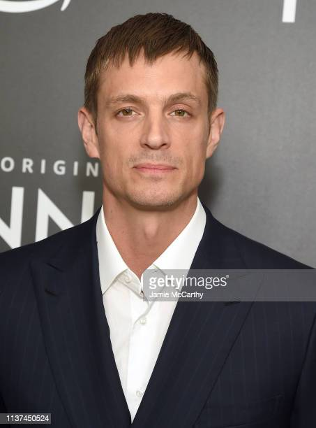 "Joel Kinnaman attends the ""Hanna"" New York Premiere at the Whitby Hotel on March 21, 2019 in New York City."