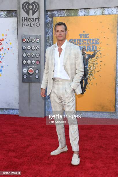 """Joel Kinnaman attends the Warner Bros. Premiere of """"The Suicide Squad"""" at Regency Village Theatre on August 02, 2021 in Los Angeles, California."""