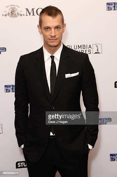 Joel Kinnaman attends the world premiere of 'RoboCop' at The IMAX on February 05, 2014 in London, England.