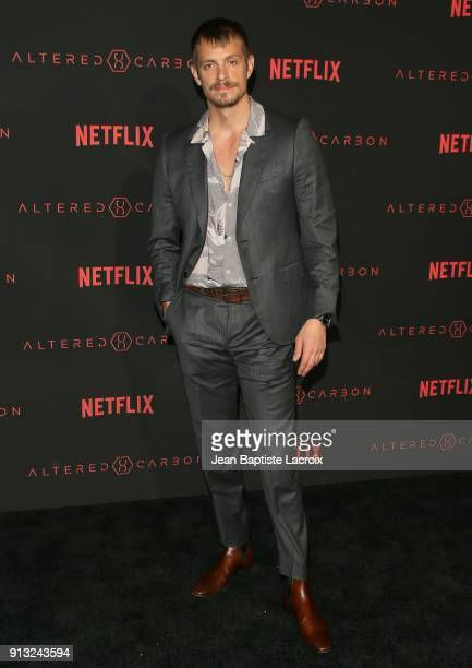 Joel Kinnaman attends the World Premiere of the Netflix Original Series 'Altered Carbon' on February 1 2018 in Los Angeles California