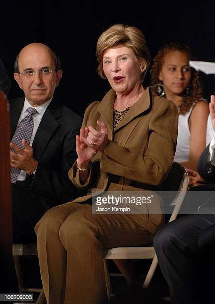 Joel Klein Chancellor of the New York City Department of Education and First Lady Laura Bush