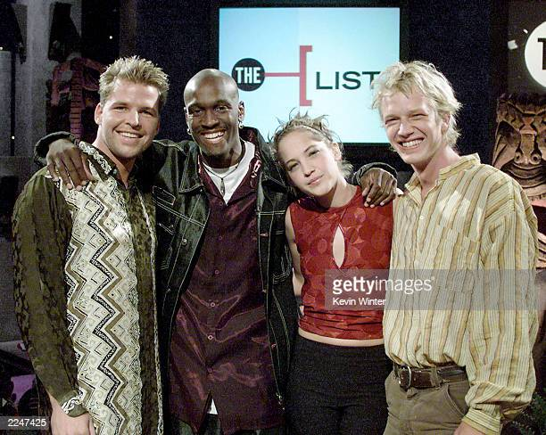 Joel Klug Gervace Peterson Colleen Haskell and Greg Buis of the 'Survivors' at the taping of VH1's 'The List' in Hollywood Ca 8/25/00 Photo by Kevin...