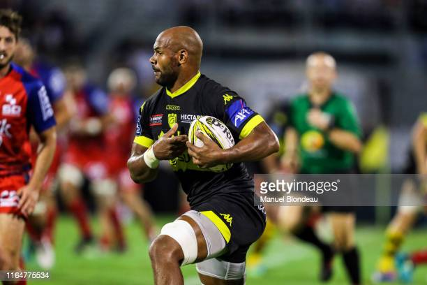 Joel Koffi of Carcassonne during the Pro D2 match between Carcassonne and Grenoble on August 29 2019 in Carcassonne France