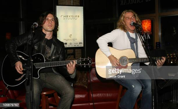 Joel Kosche and Ed Roland Collective Soul during 2006 Park City Chrysler Closing Night at Chrysler Lounge in Park City Utah United States