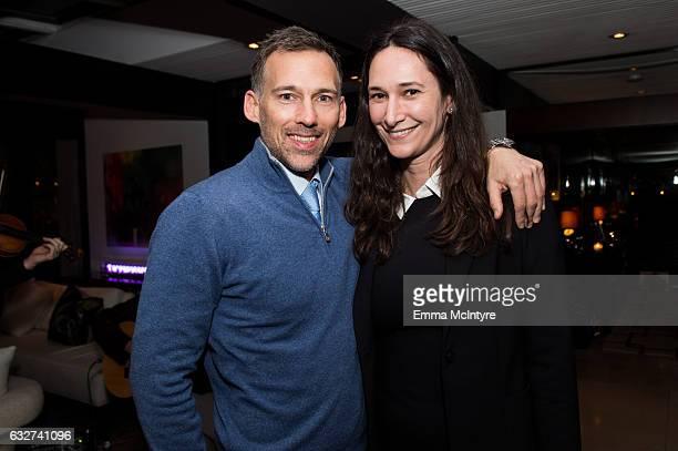 Joel Lubin and Bettina Korek attend 'Art Los Angeles Contemporary host committee members and collectors Joel Lubin and wife Marija Karan host ALAC...