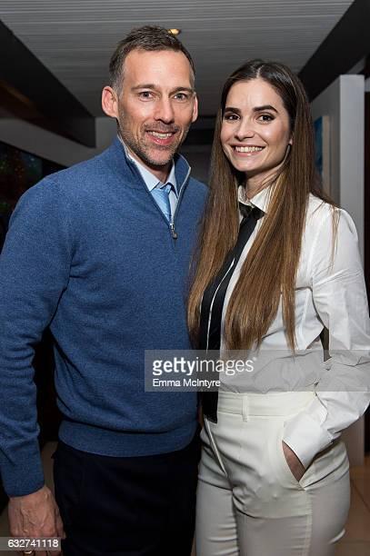 Joel Lubin and Marija Karan attend 'Art Los Angeles Contemporary host committee members and collectors Joel Lubin and wife Marija Karan host ALAC...