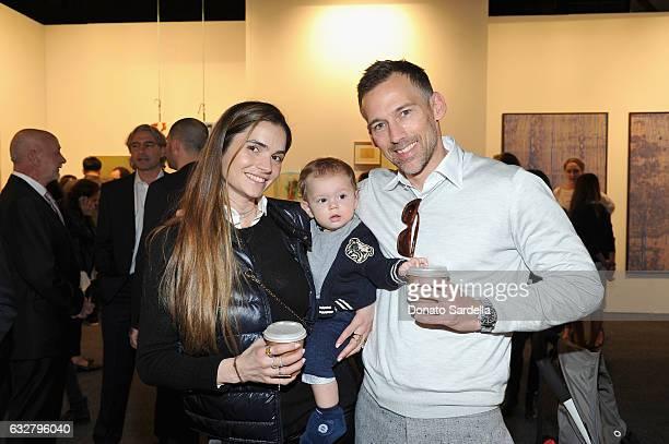 Joel Lubin and Marija Karan attend the Art Los Angeles Contemporary 2017 opening night at Barker Hangar on January 26 2017 in Santa Monica California
