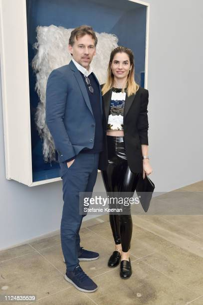 Joel Lubin and Marjin Karan attend Hauser Wirth Los Angeles Opening of Annie Leibovitz and Piero Manzoni and Musical Performance by Patti Smith at...
