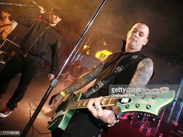 Joel Madden and Benji Madden from Good Charlotte perform with Camp Freddy