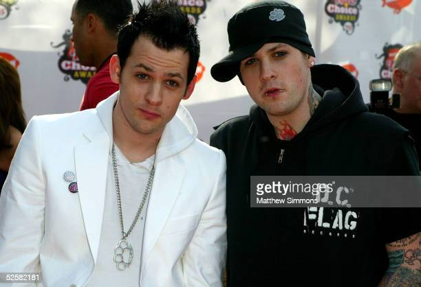 Joel Madden and Benji Madden of Good Charlotte arrive at the 18th Annual Kids Choice Awards at UCLA's Pauley Pavillion on April 2 2005 in Westwood...