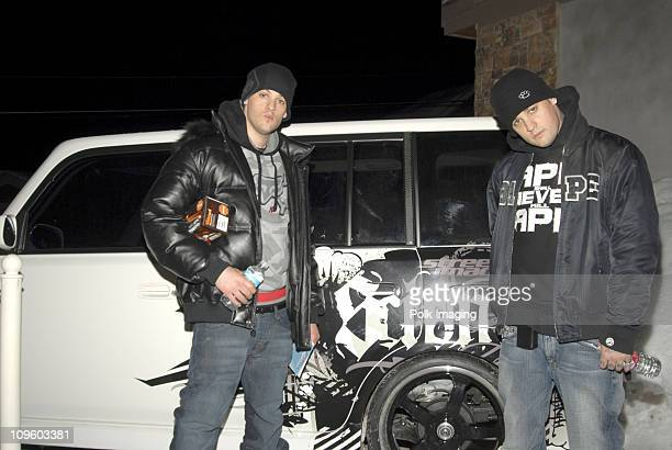 Joel Madden and Benji Madden of Good Charlotte at Fuel TV Chalet