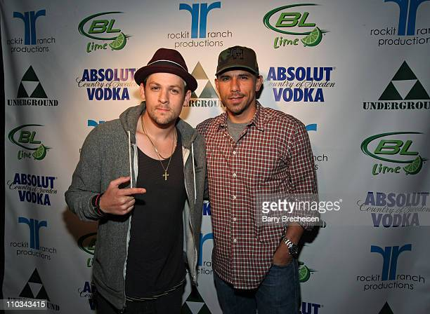 Joel Madden and Billy Dec at the Absolut Summer at The Underground on July 9, 2009 in Chicago, Illinois.