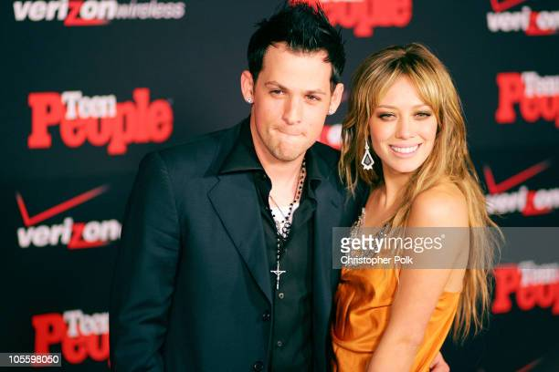 Joel Madden and Hilary Duff during Teen People Celebrates its Artists of the Year issue Arrivals at Element in Hollywood California United States